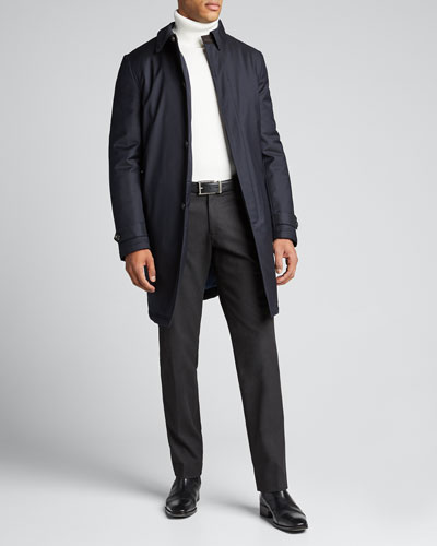 Men's Midnight Storm System Wool Trench Coat