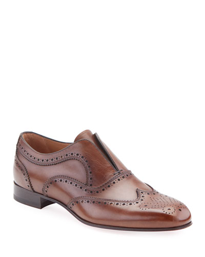 Men's Platerboy Brogue Slip-On Oxford Shoes