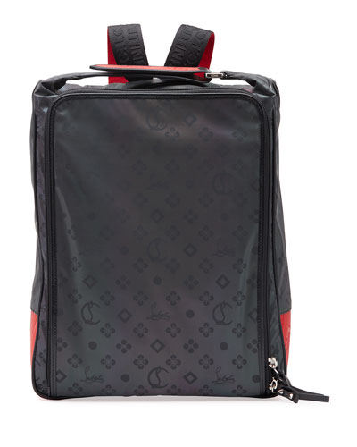 Men's Reflective Square Zip-Around Backpack