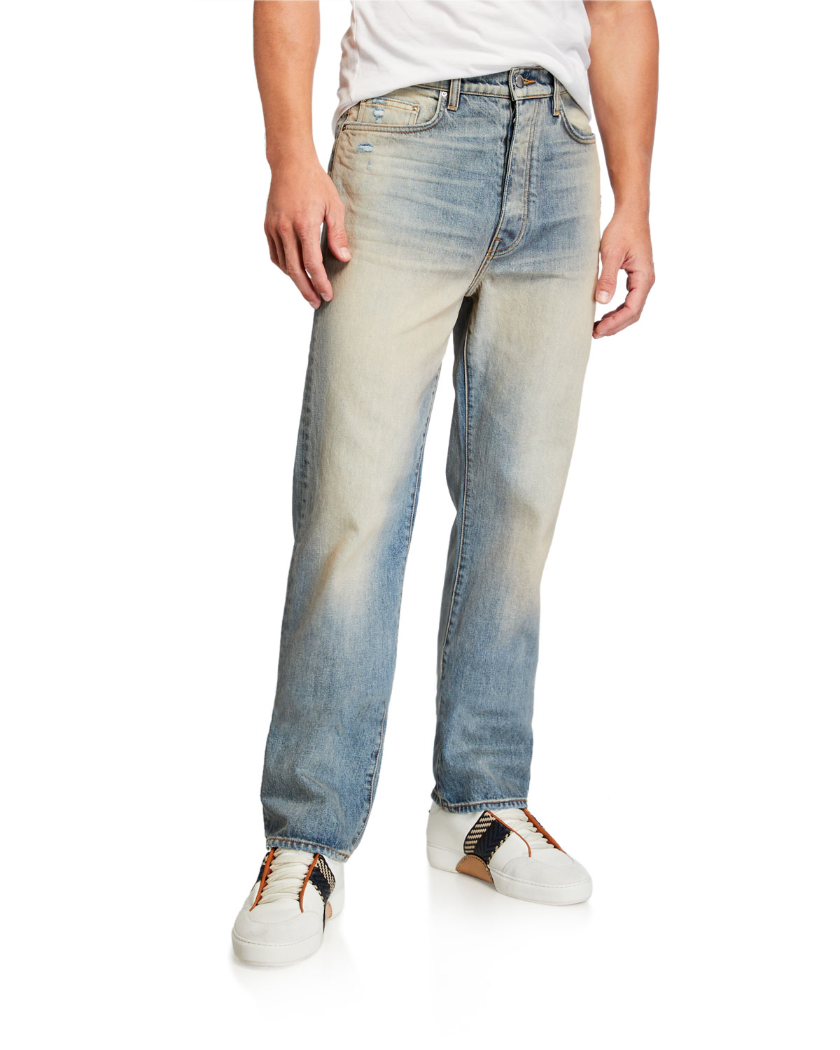 Amiri Jeans MEN'S RELAXED VINTAGE LIGHT-WASH JEANS