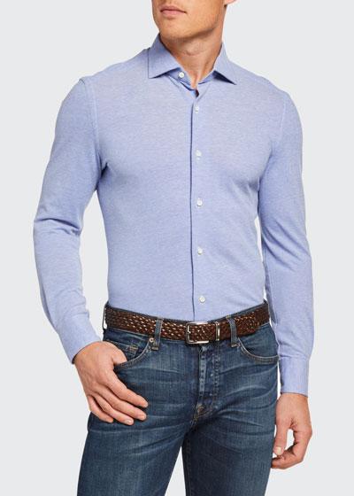Men's Pique Cotton Sport Shirt