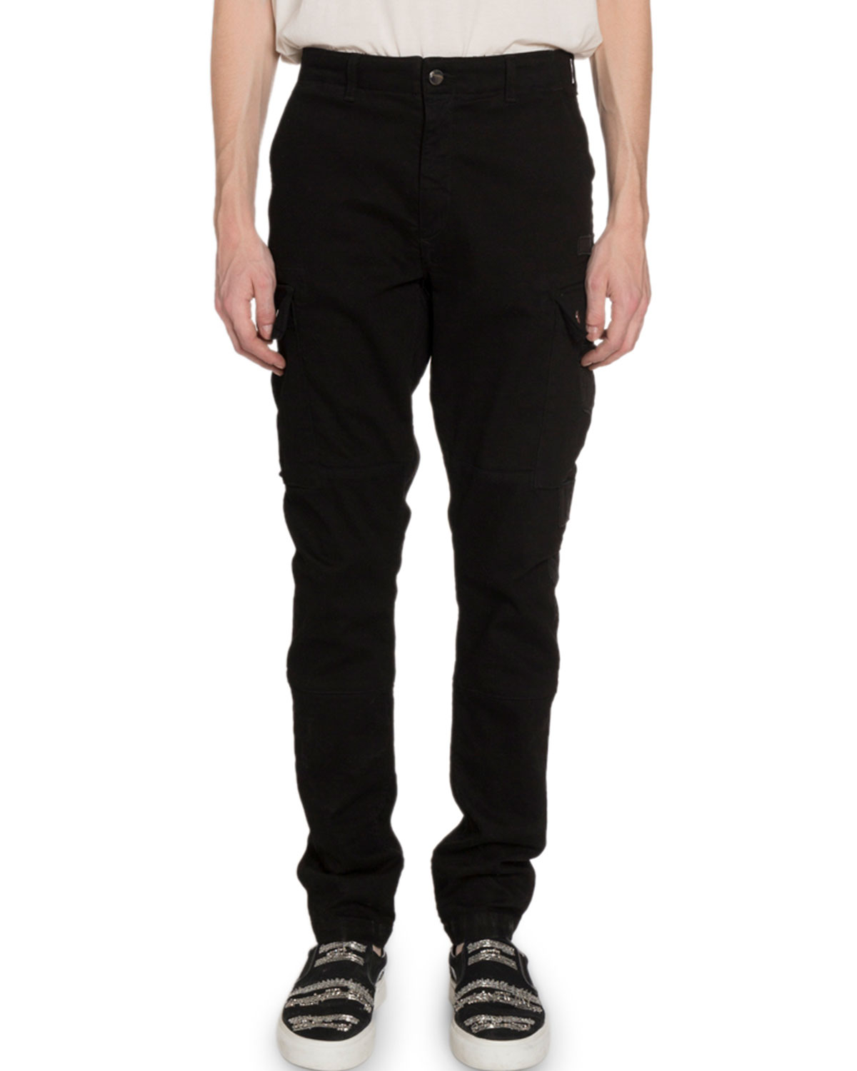 Amiri Pants MEN'S RELAXED STRETCH-TWILL CARGO PANTS