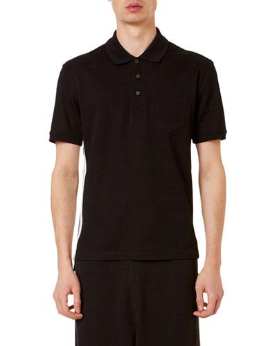 Men's Logo-Striped Polo Shirt