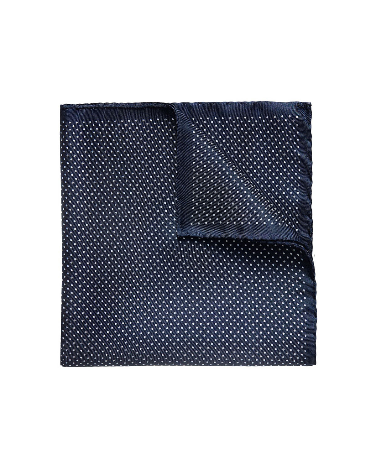 Eton  MEN'S POLKA DOT POCKET SQUARE