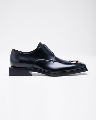 Men's Rim BB Square Leather Derby Shoes