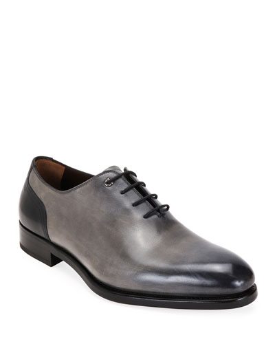 Men's Barclay Burnished Leather Oxford Shoes