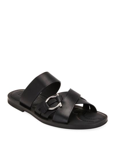 Men's Atina Gancio Leather Slide Sandals
