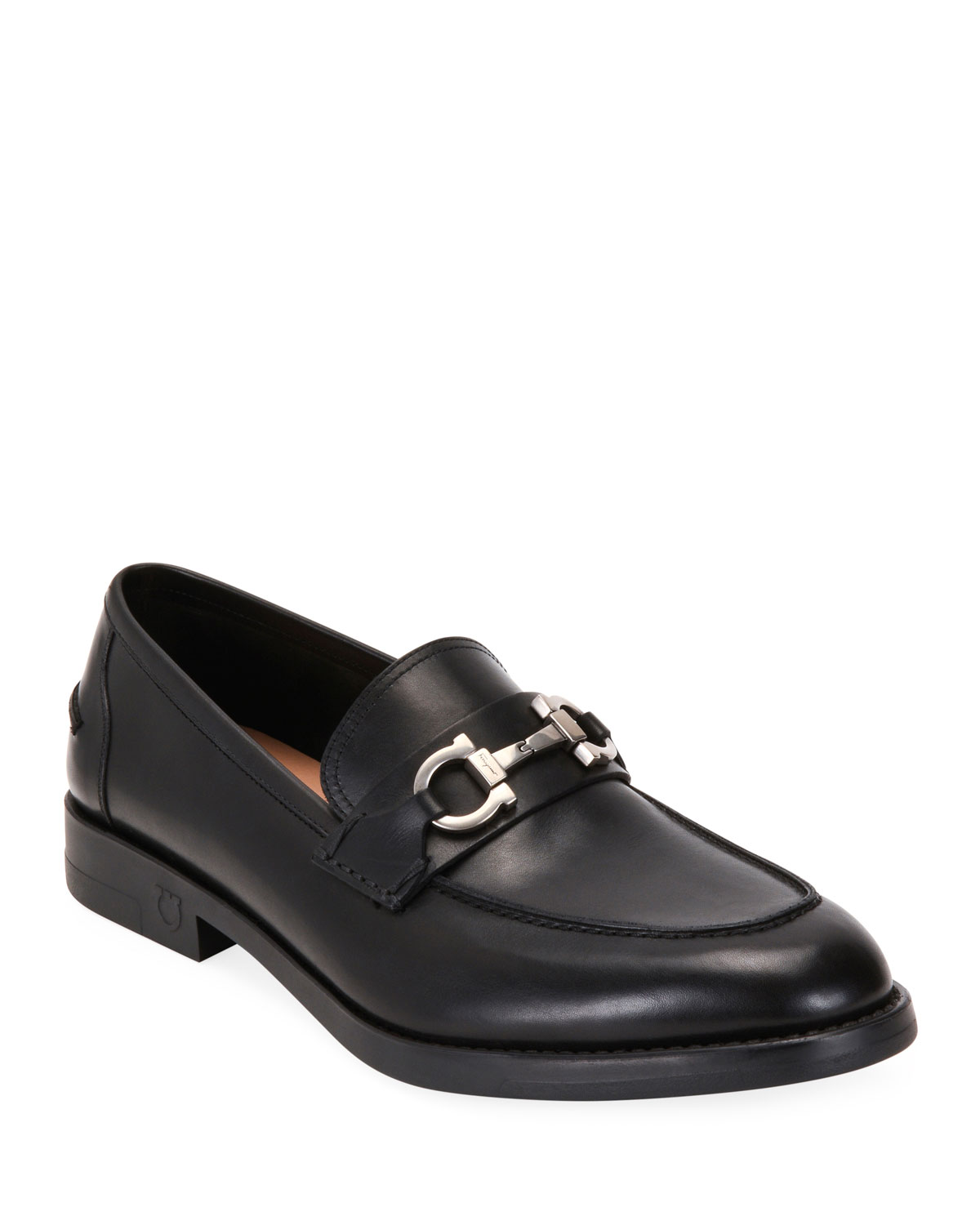 Salvatore Ferragamo Loafers MEN'S ARLIN LEATHER SLIP-ON BIT LOAFERS