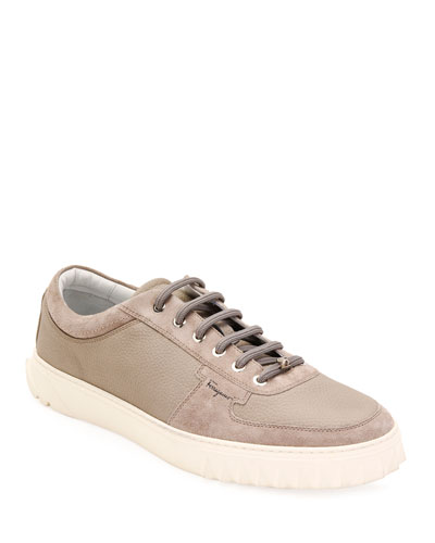 Men's Scuby Leather/Suede Low-Top Sneakers