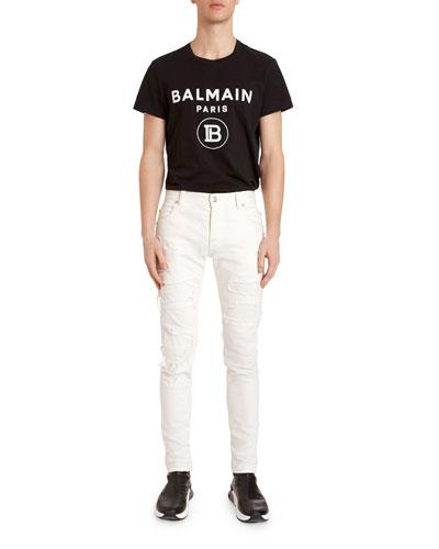 Men's Destroyed Slim-Leg Jeans