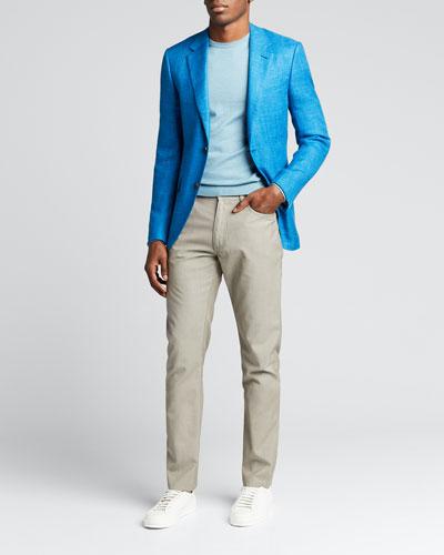 Men's Slim Stretch-Wool Pants