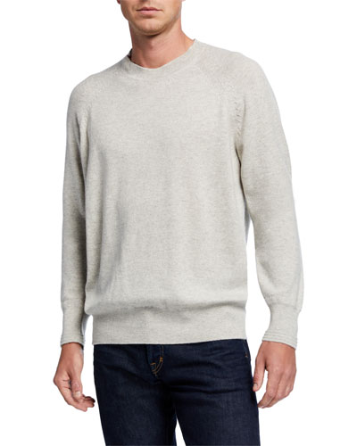 Men's Cashmere Crewneck Raglan Sweater