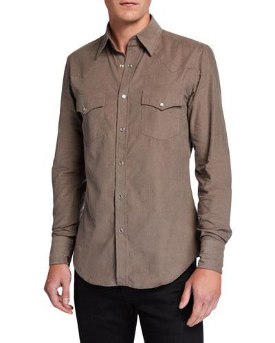 Men's Western Cotton Sport Shirt