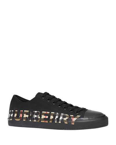 Men's Larkhall Low-Top Sneakers with Vintage Check Logo