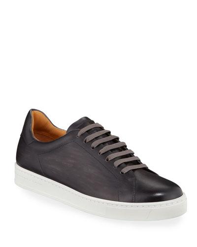 Men's Low-Top Leather Sneakers