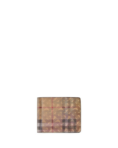 Men's Hologram Logo Vintage Check Hipfold Wallet
