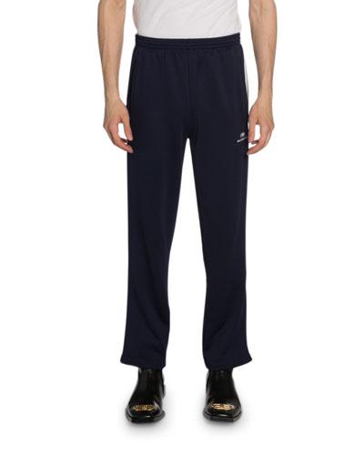 Men's Technical Jersey Side-Stripe Track Pants