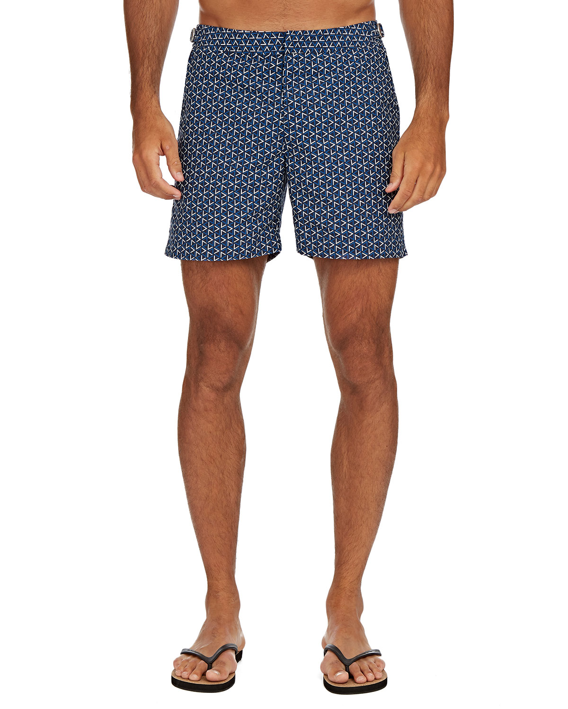 Orlebar Brown Shorts MEN'S BULLDOG GARDA-PRINT SWIM TRUNKS
