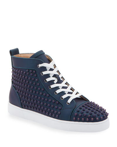 Men's Louis Orlato Spiked Leather Sneakers