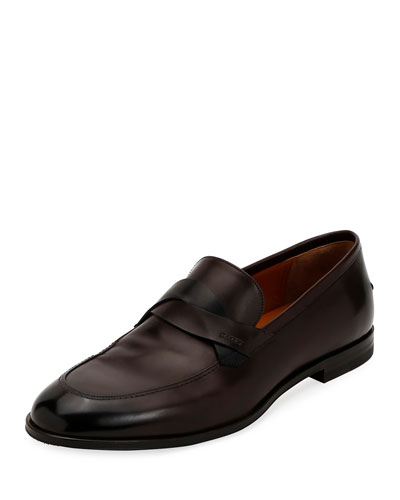 Men's Welney Leather Twist-Strap Loafers