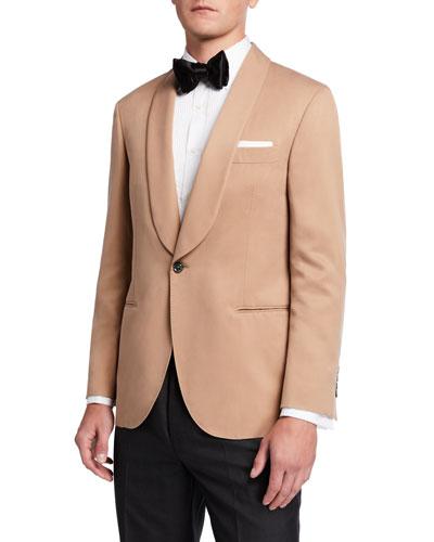 Men's Shawl-Lapel Silk Dinner Jacket