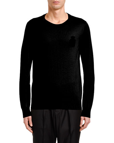 Men's Crown Emblem Cashmere Sweater
