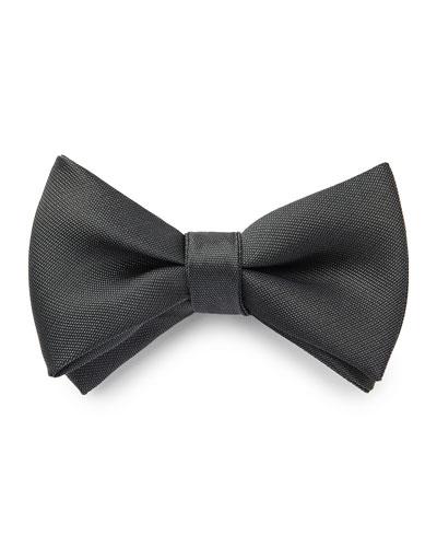Men's Oversized Solid Textured Bow Tie