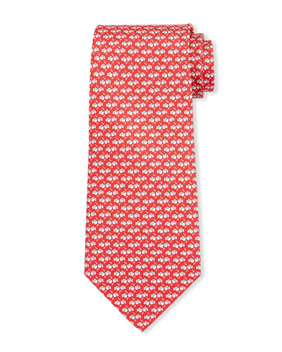 Lox Boxing Gloves Silk Tie, Red