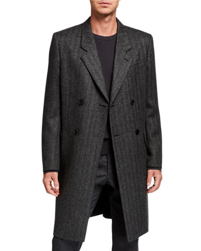 Men's Colt Striped Double-Breasted Coat