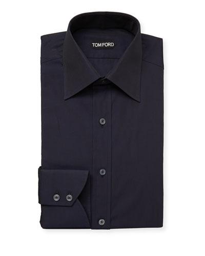 Men's Classic-Collar Poplin Dress Shirt