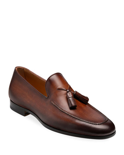 Men's Super Flex Leather Tassel Loafers