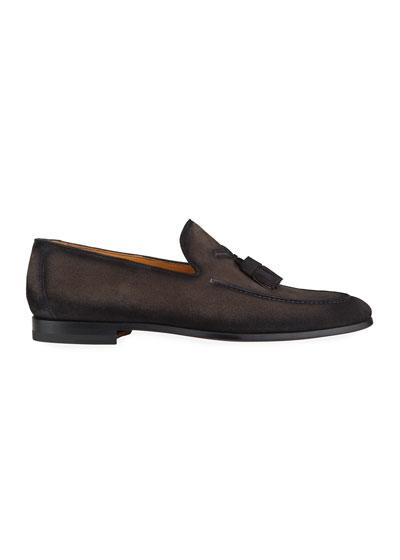 Men's Super Flex Tassel Leather Loafers