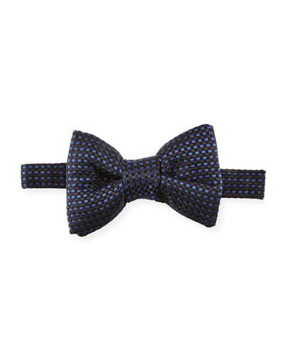 Check Silk Bow Tie