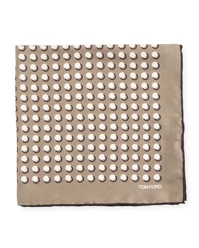 Men's Dotted Silk Pocket Square