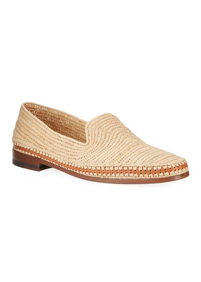 Men's Meknes Woven Raffia Slip-On Shoes