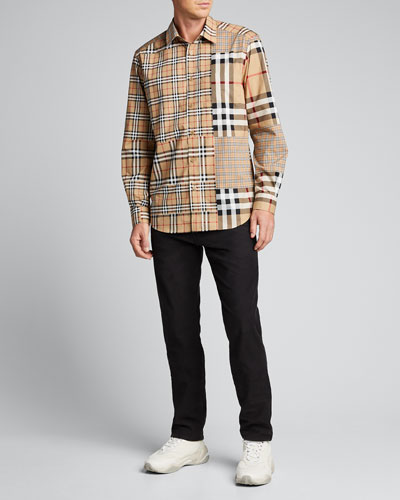 Men's Mixed Icon Check Heavyweight Sport Shirt