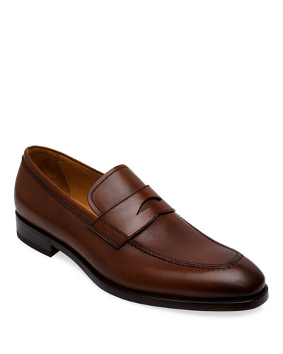 Men's Lane Leather Penny Loafers