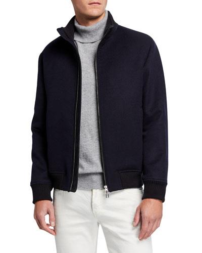 Men's Stirling Double Cashmere Bomber Jacket