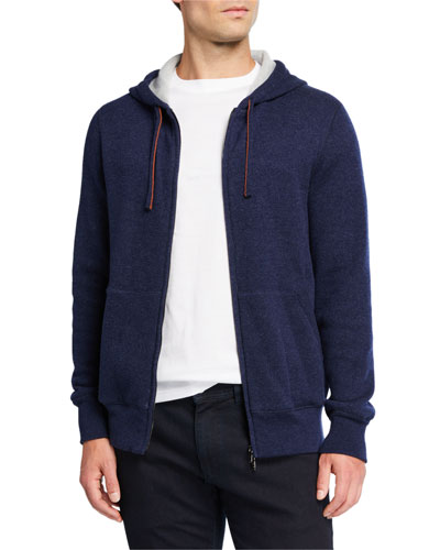 Men's Snuggly Cashmere Hoodie Jacket