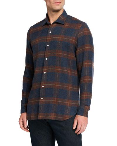 Men's Arthur Ennis Plaid Cotton Sport Shirt