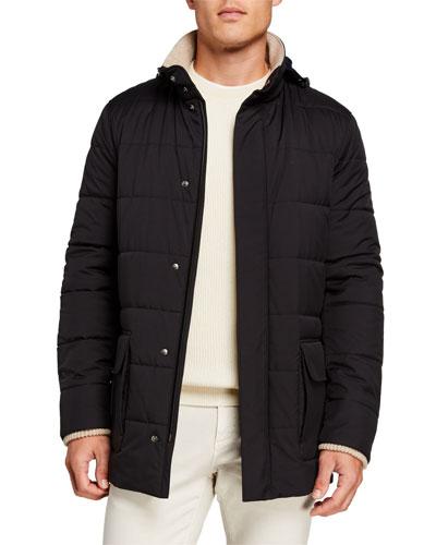 Men's Winter Voyager Quilted Winter Coat
