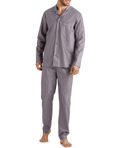 Men's Maxim Pin-Dot Cotton Pajama Set