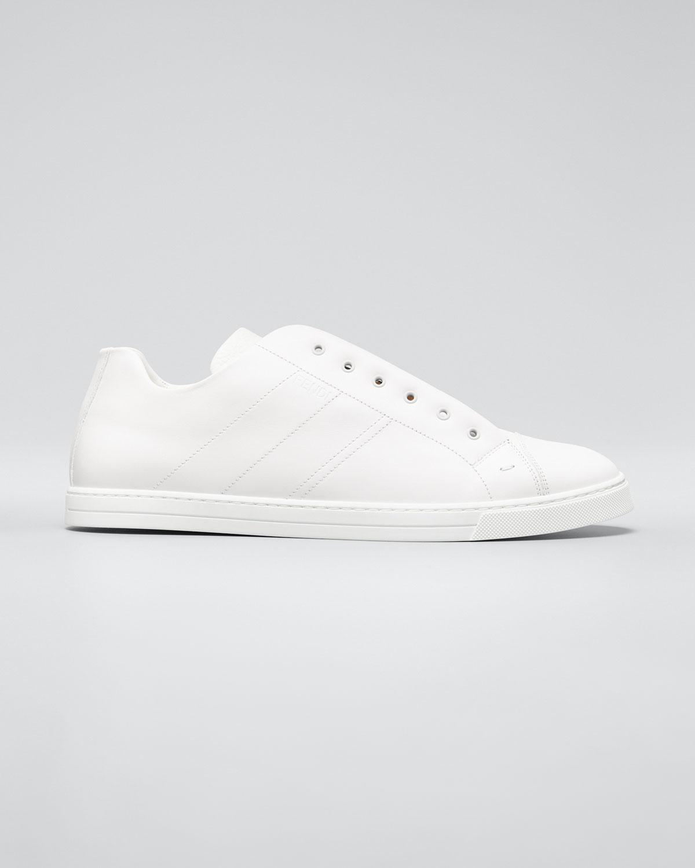 Fendi Sneakers MEN'S LACELESS LEATHER FF-STRAP SNEAKERS