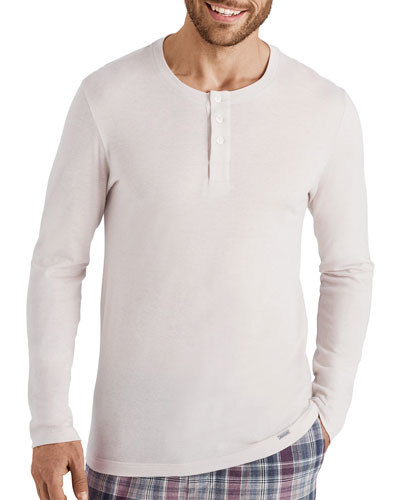 Men's Thilo Cotton-Cashmere Henley Shirt