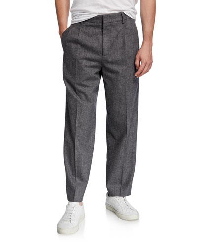 Men's x B Shop Federal Wide-Leg Wool Pants