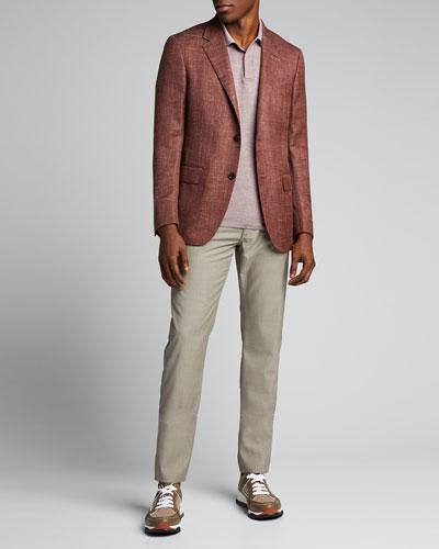 Men's Wool-Blend Textured Blazer