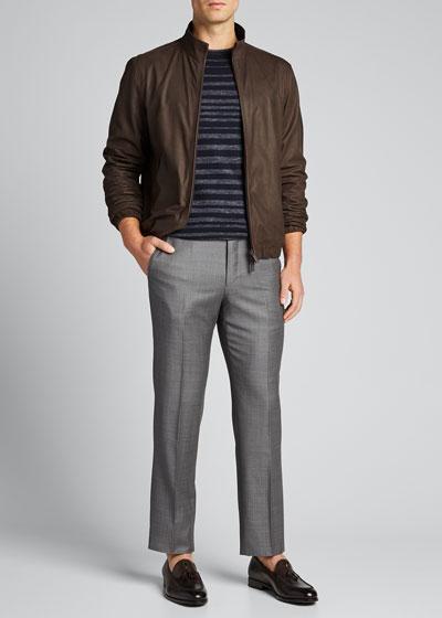 Men's Reversible Zip-Front Bomber Jacket