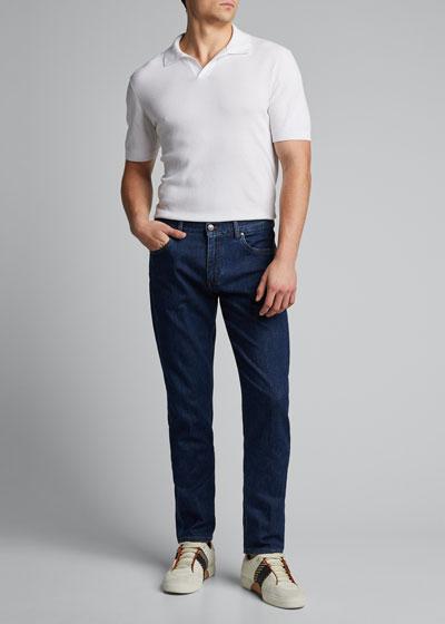 Men's Medium-Wash Super-Soft Trim-Fit Jeans