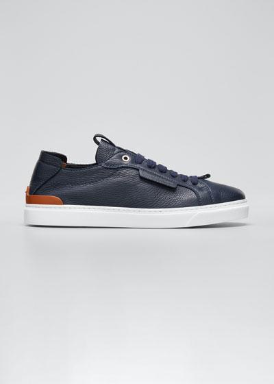 Men's Deerskin Leather Low-Top Sneakers