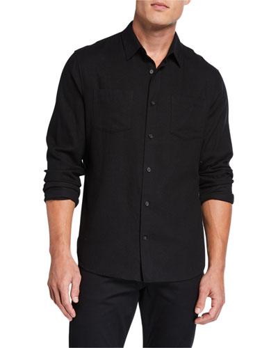 Men's Brushed Twill Pocket Sport Shirt